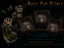 Haute Seat Pillow - Ornamented Brown Leather
