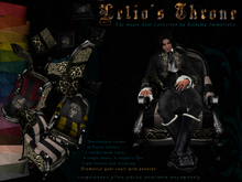 The Haute Seat Collection: Lelio's Throne - Black Leather