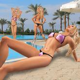 Pink metallic bikini