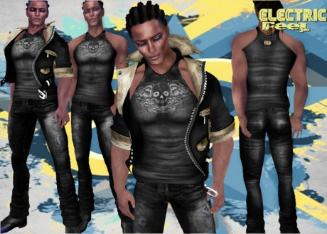 *-*Ef*-* Static (leather jacket outfit)