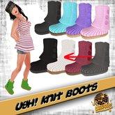 Waffle! Ugh Knit Boots - SNOW