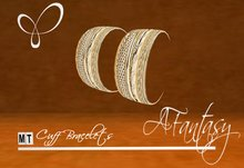 AFantasy Gold Cuff-Styled Bangle Bracelets