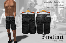 MESH -Instinct- Black Baggy Shorts