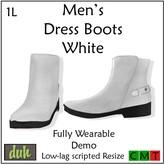 ::Duh!:: Men's Dress Boots - White