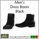 ::Duh!:: Men's Dress Boots - Black
