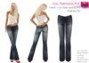 Full Perm Ladies Low Rise Jeans Low Waist Jeans Denims Diesel Black  Blue Jeans Bell Bottom Jeans