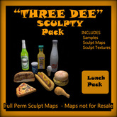 """Three Dee"" Lunch Snack Sculpty Pack"