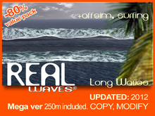 New, long, Shore Waves + Huge oceanic offsim waves