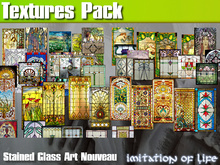IOL 46 Stained Glass Art Nouveau Full Perms Textures Pack