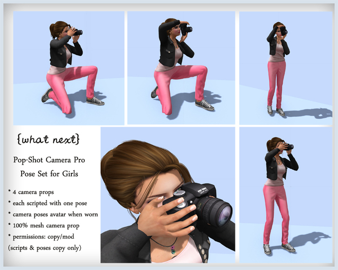 {what next} Pop-Shot Pro Camera Props & Poses for Girls