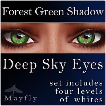 Mayfly - Deep Sky Eyes (Forest Green Shadow)