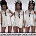 Custom iNKZ - Good Girl White Button Down Top & Cut Off Shorts [NEW]