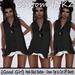 Custom iNKZ - Good Girl Black Button Down Top & Cut Off Shorts [NEW]