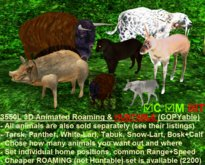 3D Animated Gor-Animal-SET Huntable