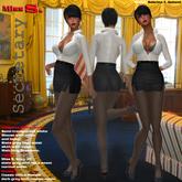 Miss S. Dress Secretary slate grey and white