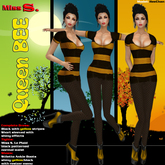 Miss S. Dress Queen Bee yellow