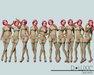 D.Luxx Poses - Secrets - 10 Single Static Standing Female Poses