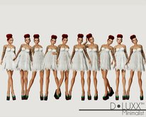 D.Luxx Poses - Minimalist - 10 Single Static Standing Female Poses