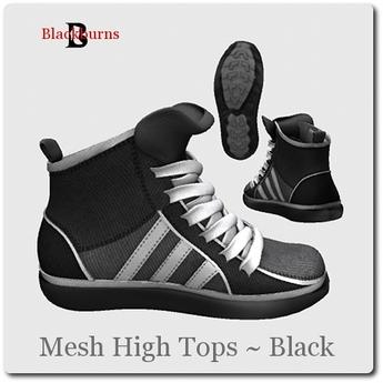 Blackburns Mesh High Tops Black Unisex