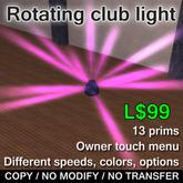 Rotating club lights
