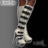 ::Kitteh Bitz:: Eva Boots (Cream PVC)