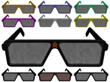 Angular Geek Glasses in several colors (incl. Video Game Editions)