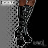::Kitteh Bitz:: Eva Boots (Black PVC)