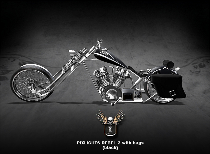 PIXLIGHTS FACTORY REBEL CHOPPER 2 BLACK (with bags)