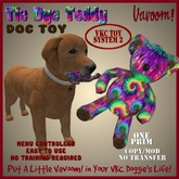 Tie Dye Teddy Pet Toy By Vavoom! Boxed - Toys and Accessories for Virtual Kennel Club (VKC) Pets