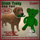 Green Teddy Pet Toy By Vavoom! Boxed - Toys and Accessories for Virtual Kennel Club (VKC) Pets - No Training Required