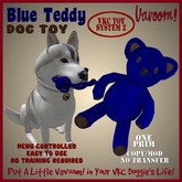 Blue Teddy Pet Toy By Vavoom! Boxed - Toys and Accessories for Virtual Kennel Club (VKC) Pets - No Training Required