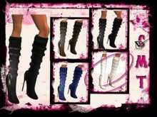 ::Sweet Intoxication:: Leather Ring Boots ~ White  **PROMO**