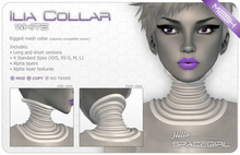Hello Spacegirl - Ilia Collar White (MESH)