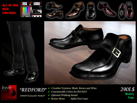 iNEDIT-Footwear041 *Redford* - Formal Men's Shoes in 3 Leather Textures