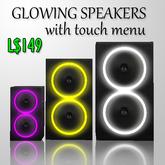 Glowing Speakers with menu
