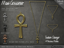 Necklace - Antique Ankh in Precious Metals