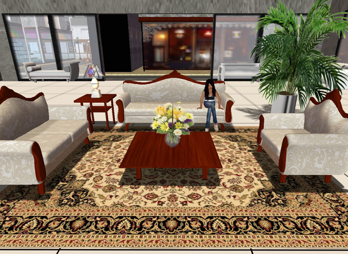 Second Life Marketplace Living Room Chair Queen Anne Style Seats 1 With Multi Animations