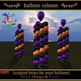 Balloon Column v.1.2 - Halloween Black, Purple, Orange - Xntra City Balloons