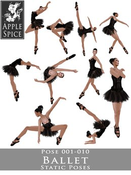 Second Life Marketplace Apple Spice Ballet Poses 001 010 Fatpack