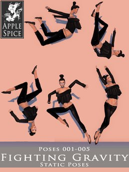 Apple Spice - Fighting Gravity Poses 001-005 Fatpack