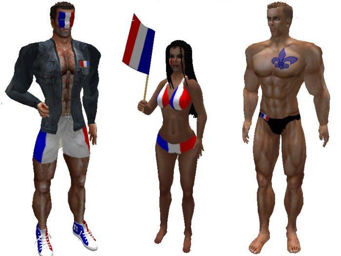 France -- Bastille Day -- Wearables and flag