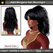 A&A Morgana Hair Moonlight, wavy long hairstyle with woven side elements.