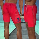 Red men's swimwear