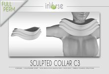 Sculpted collar C3 full permission for cloth designers