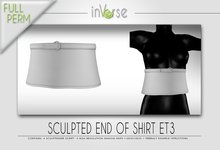 Sculpted end of shirt/sweater with belt  ET3 Full permission