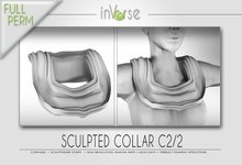 Sculpted collar C2/2 full permission for cloth designers
