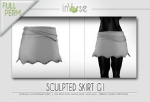 Sculpted skirt G1 full permission for cloth designers
