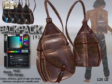 EB Atelier MEN - Backpack [ 5 ] -wear it quickly- italian designer