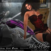 ~Blackalce~ Rissa: Red Leather & Lace Corset