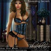 ~Blacklace~ Revealing Secrets: Blue Lace Cincher Set